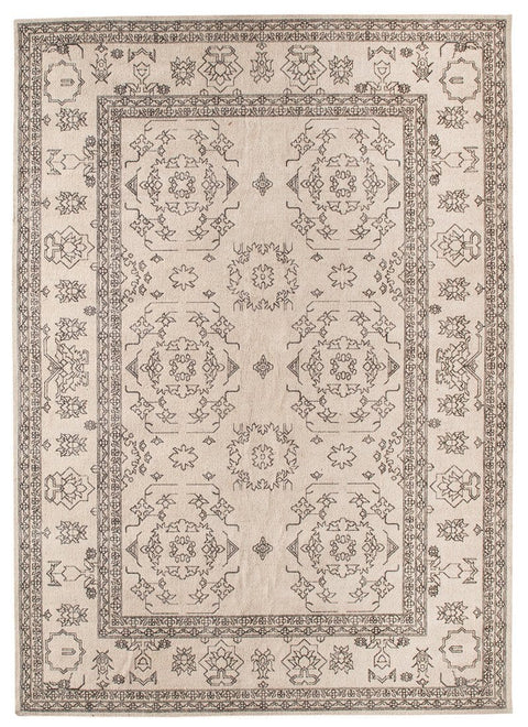 Sienna Beige and Black Scandi Pattern Rug