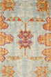 Sohag Orange Multi Colour Traditional Distressed Medallion Rug