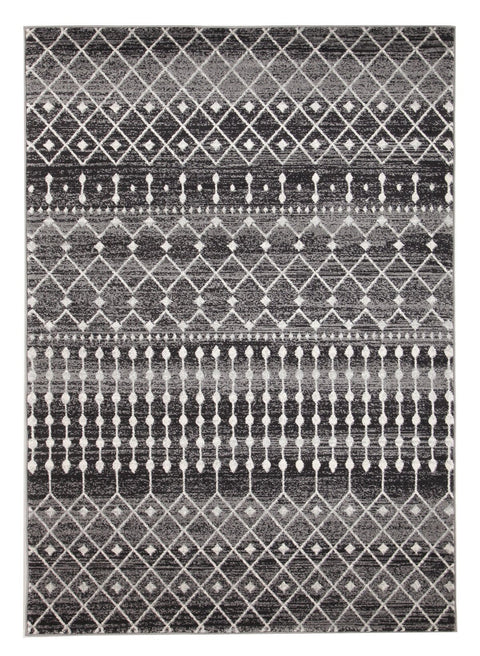 Tonder Black and White Scandinavian Pattern Rug