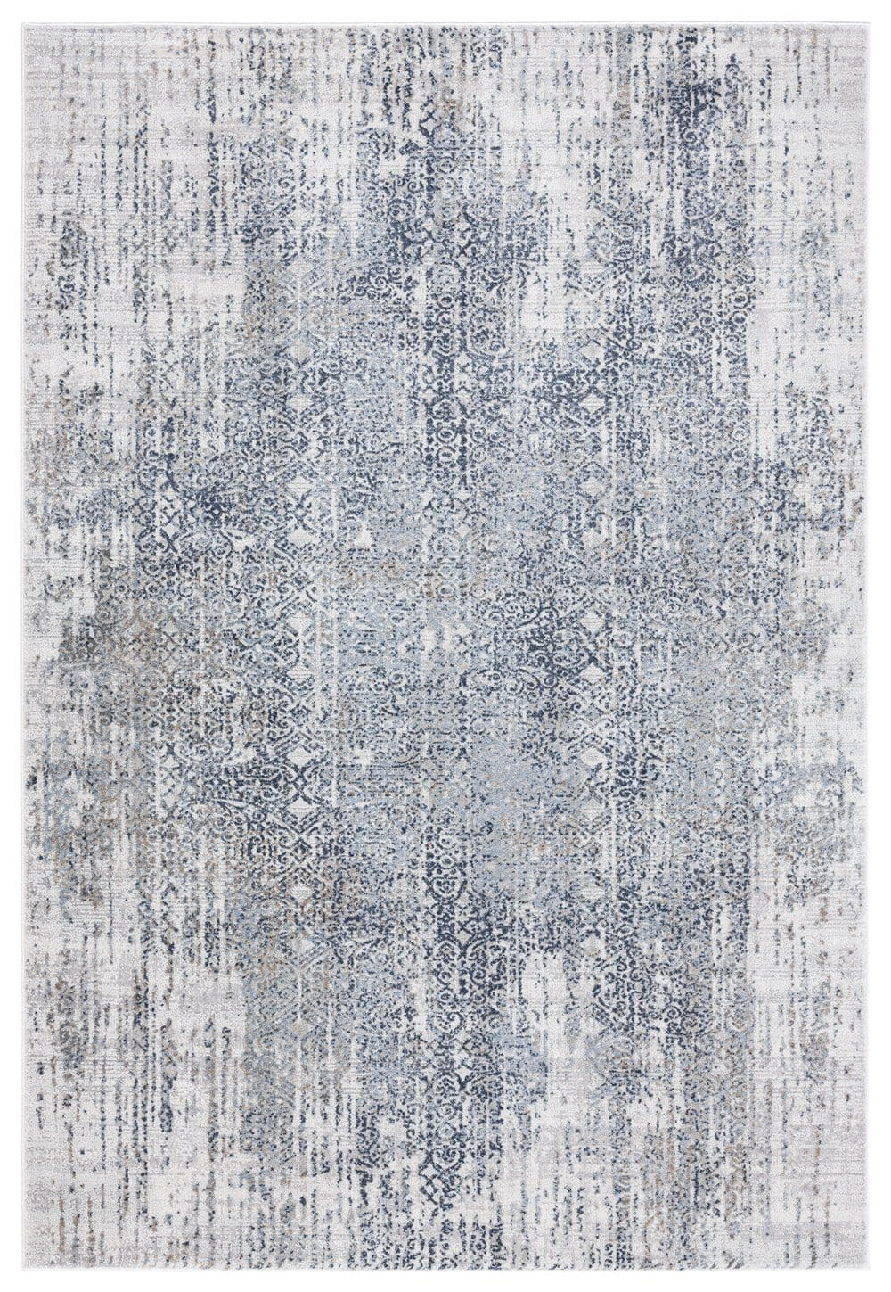 Ulyana Blue and Beige Faded Transitional Rug