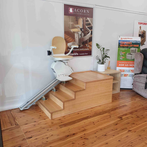 Acorn Stairlifts available for trial at Mobility Joy - The Entrance - Central Coast
