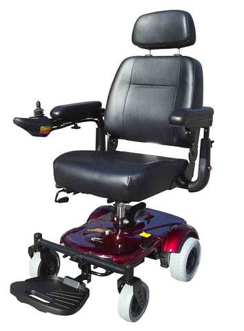 Merits Ezy Go XL - Portable powerchair comfortable seating for prolongued use - Mobility Joy Central Coast - Red