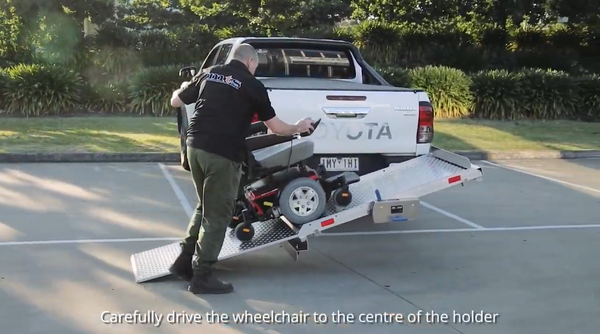 Tilting Mobility Scooter Wheelchair Carrier Ramp Trailer or Rack - Central Coast