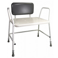 Pleasant Portland Bariatric Shower Stool With Padded Back Inzonedesignstudio Interior Chair Design Inzonedesignstudiocom