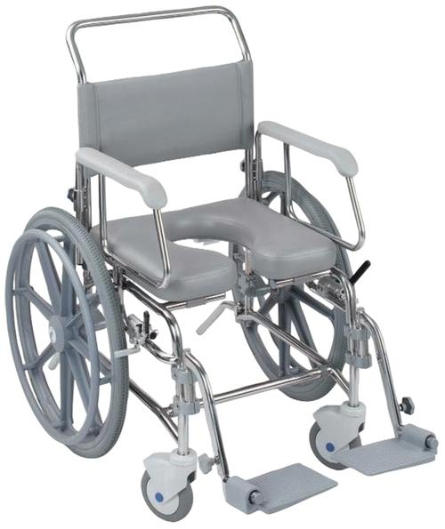 Commode Self Propel Stainless Steel. Trans Aqua Central Coast - Mobility Joy