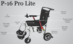 LEXHAM Pro Lite P16 - Portale wheelchair - Distributed by Pride Mobility - Mobility Joy - Central Coast
