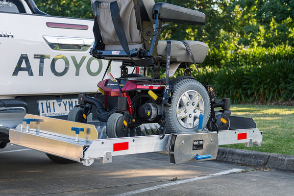 Tilting Mobility Scooter / Wheelchair Carrier Ramp Trailer or Rack - Central Coast