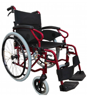 Neptune Self-Propelled Wheelchair 18x16 in Red Central Coast - Mobility Joy