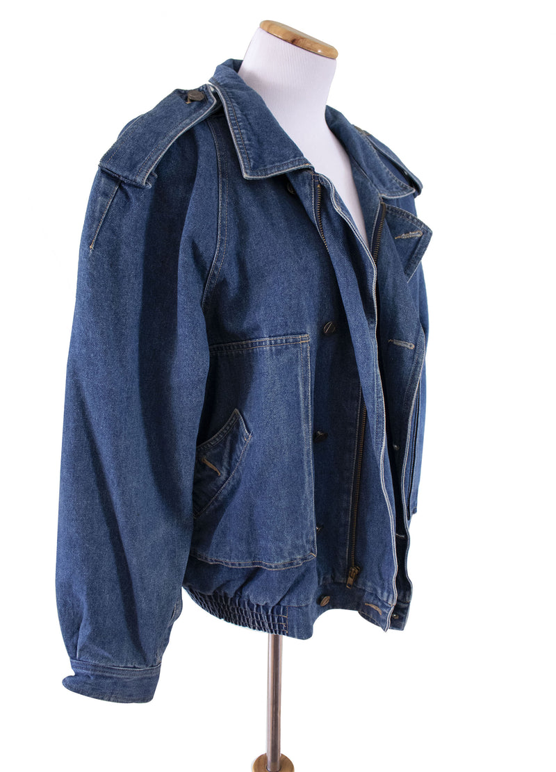 "Liz Wear ""Dirty Deeds"" Jean Jacket Right View - Rizzo's"