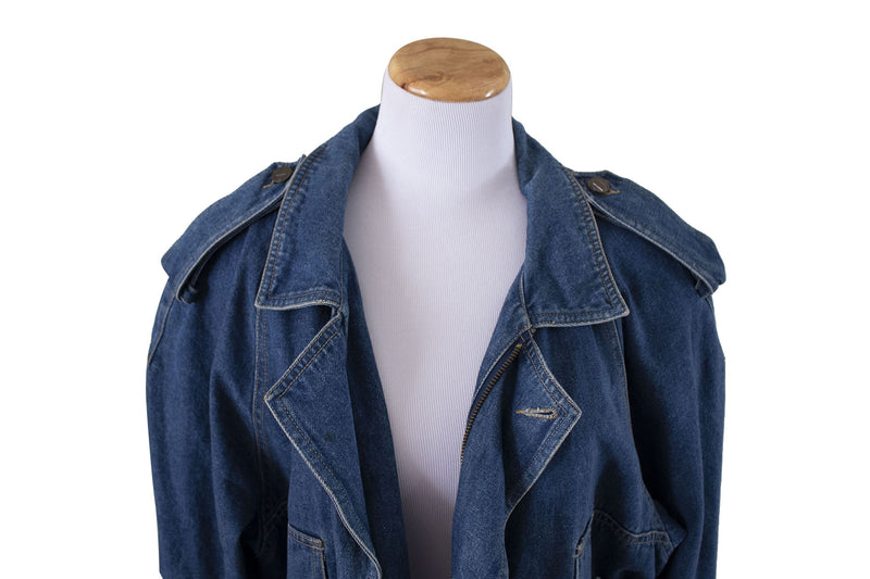 "Liz Wear ""Dirty Deeds"" Jean Jacket Genuine - Rizzo's"