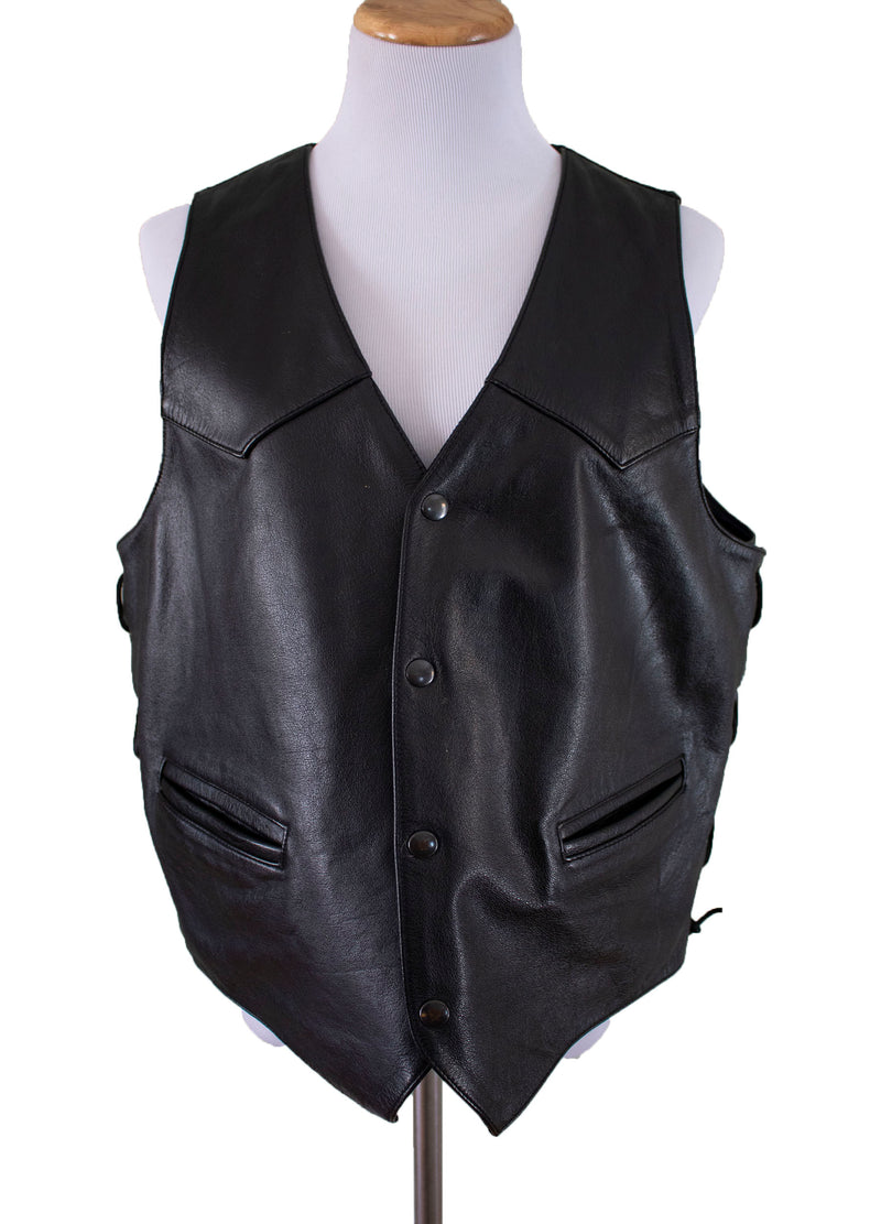 "Wilsons Leather ""Freebird"" Eagle Embossed Leather Vest - Rizzo's"