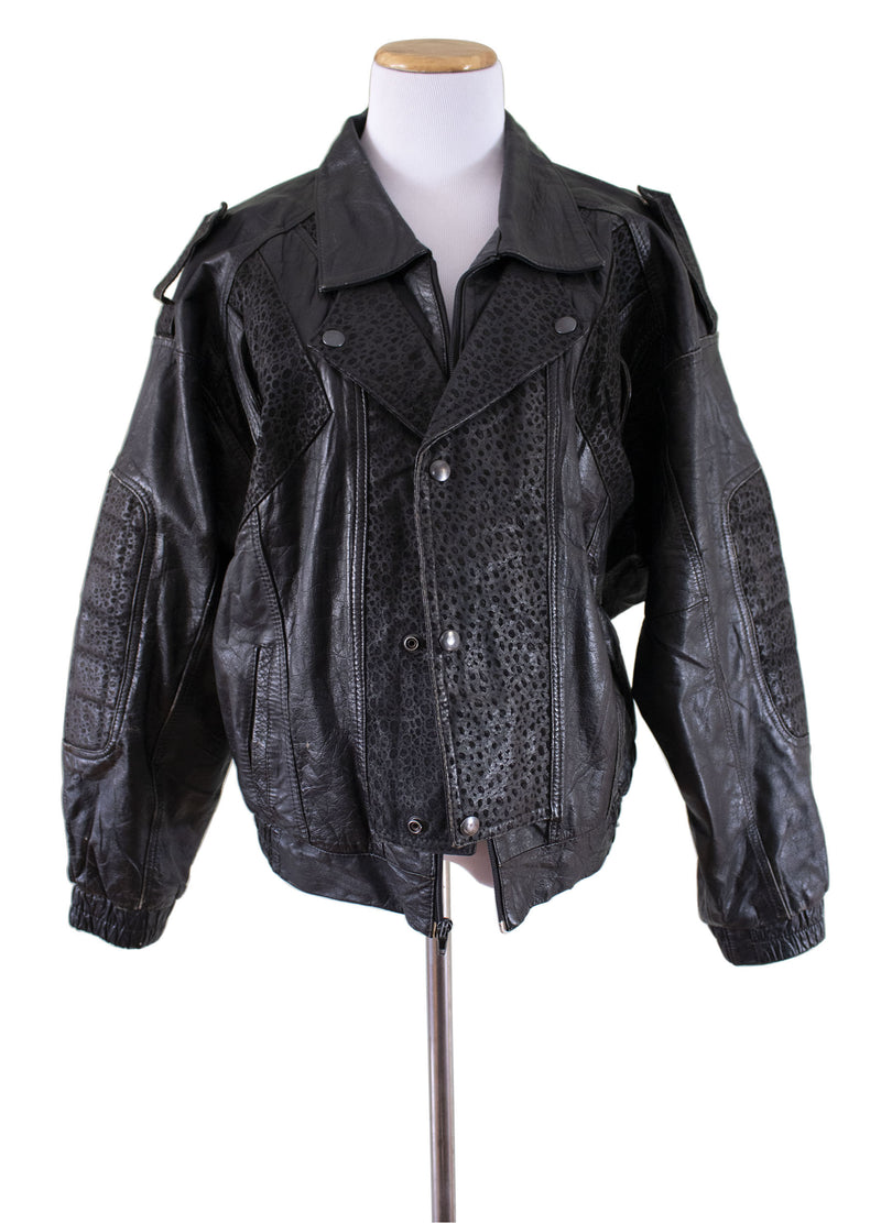 """Gonzo"" Leather Bomber Jacket - Rizzo's"