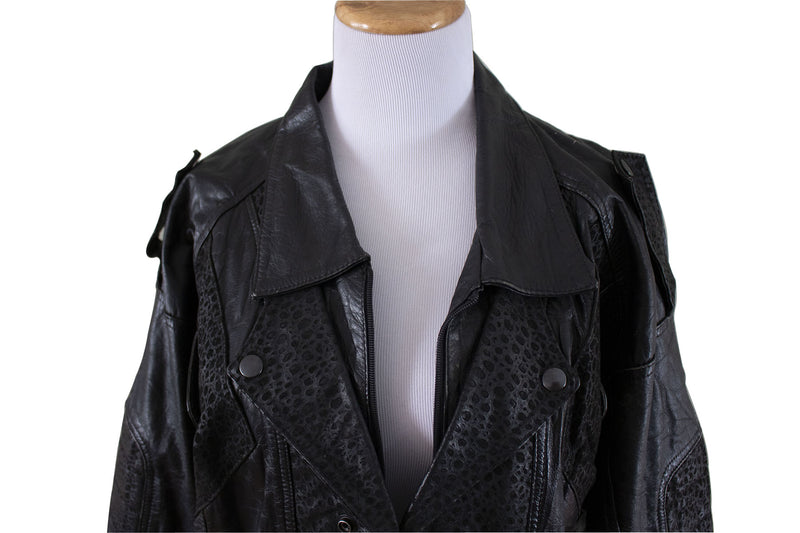 """Gonzo"" Leather Bomber Jacket Front - Rizzo's"