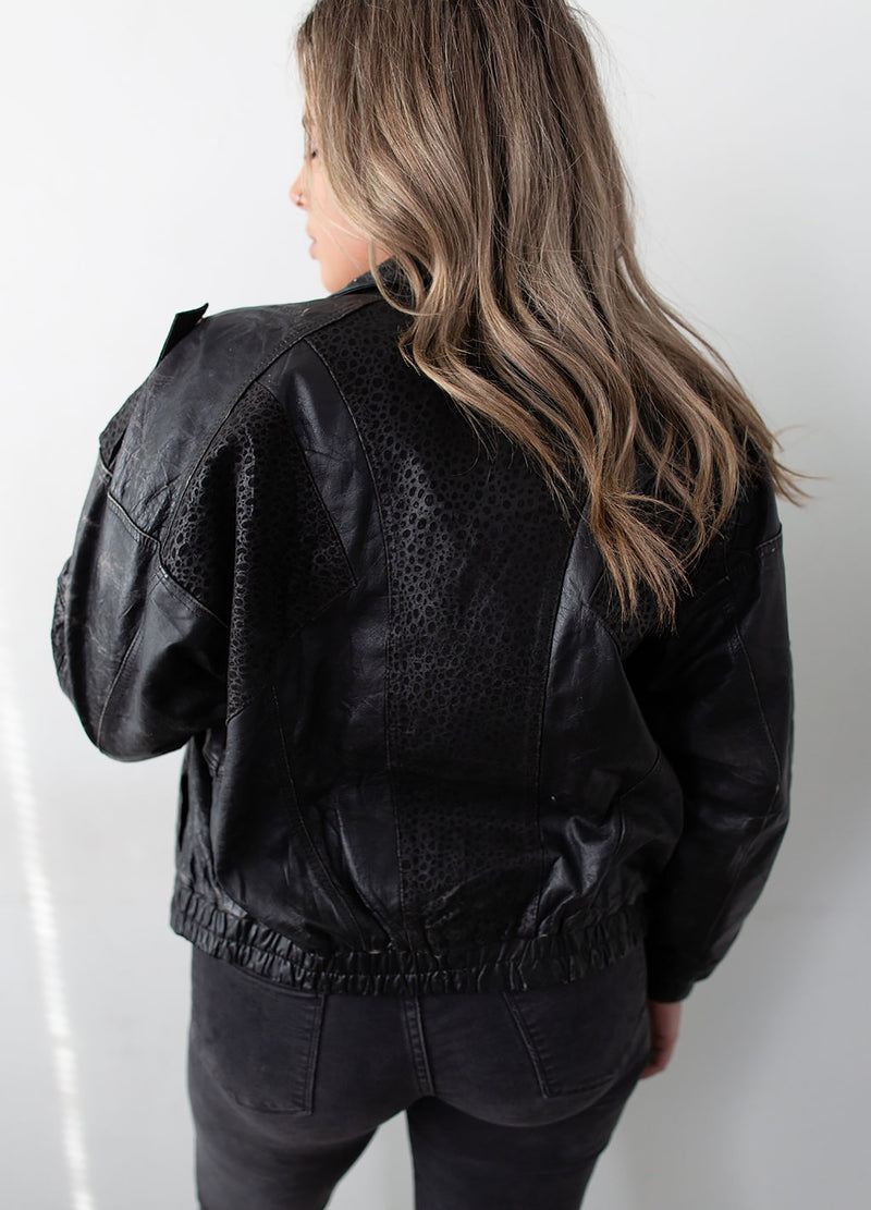 """Gonzo"" Leather Bomber Jacket Desert Ace - Rizzo's"