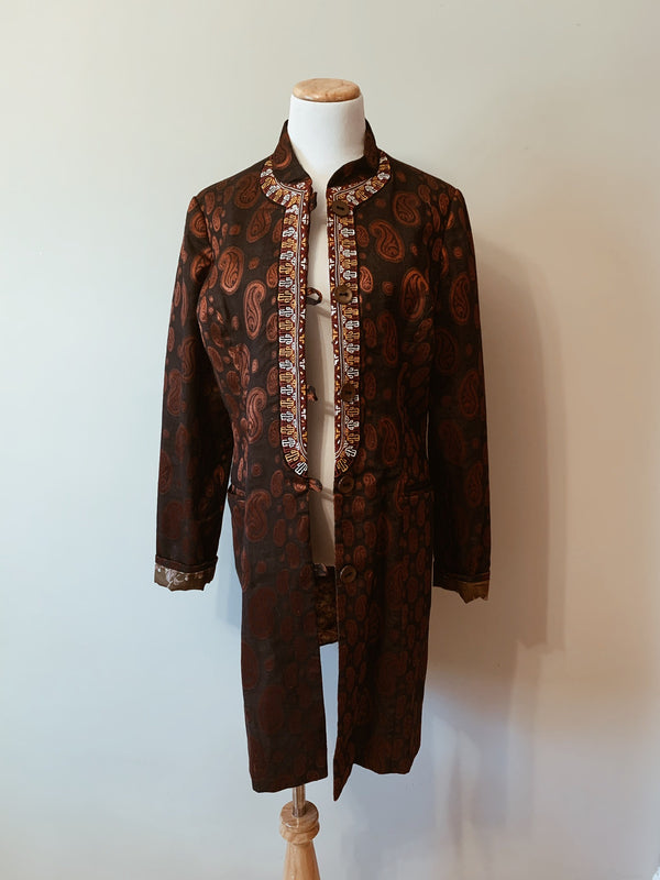 Cinnamon Spice Silk Jacket
