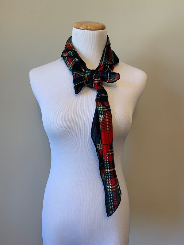 Schoolgirl Plaid Scarf