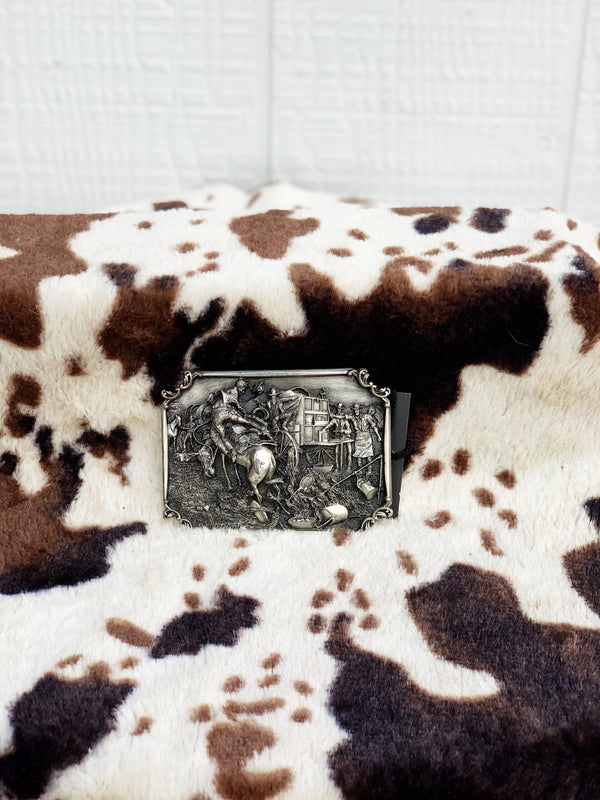 "Siskiyou Buckle Co ""Bronco Breakfast"" Vintage Belt Buckle"