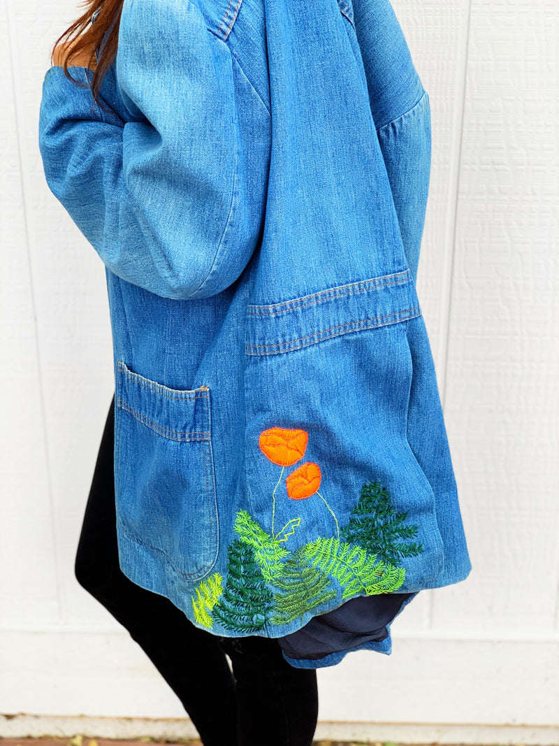 "Levi's ""By the Bay"" Vintage Embroidered Blazer Lil Pricks Needlewerks Collab"