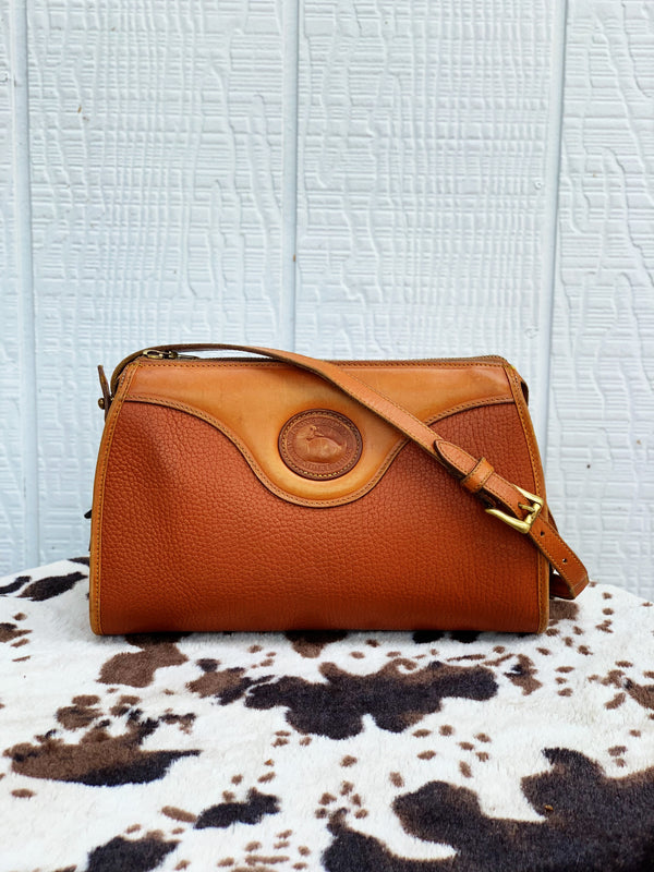 "Dooney & Burke ""Not a Chance"" Small Vintage Leather Purse"