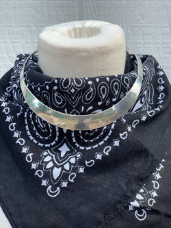 """Take Me There"" Sterling Silver Choker Necklace"