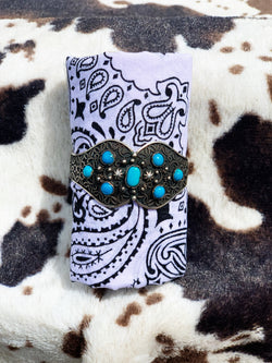 """Legend"" Sterling Silver and Turquoise Bracelet Cuff"