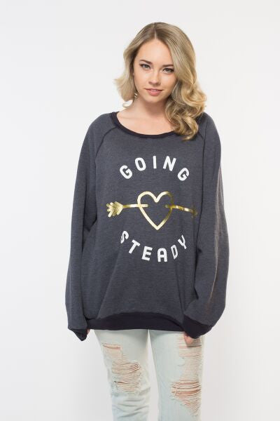 'Going Steady' Oversized PE Sweater with Pockets
