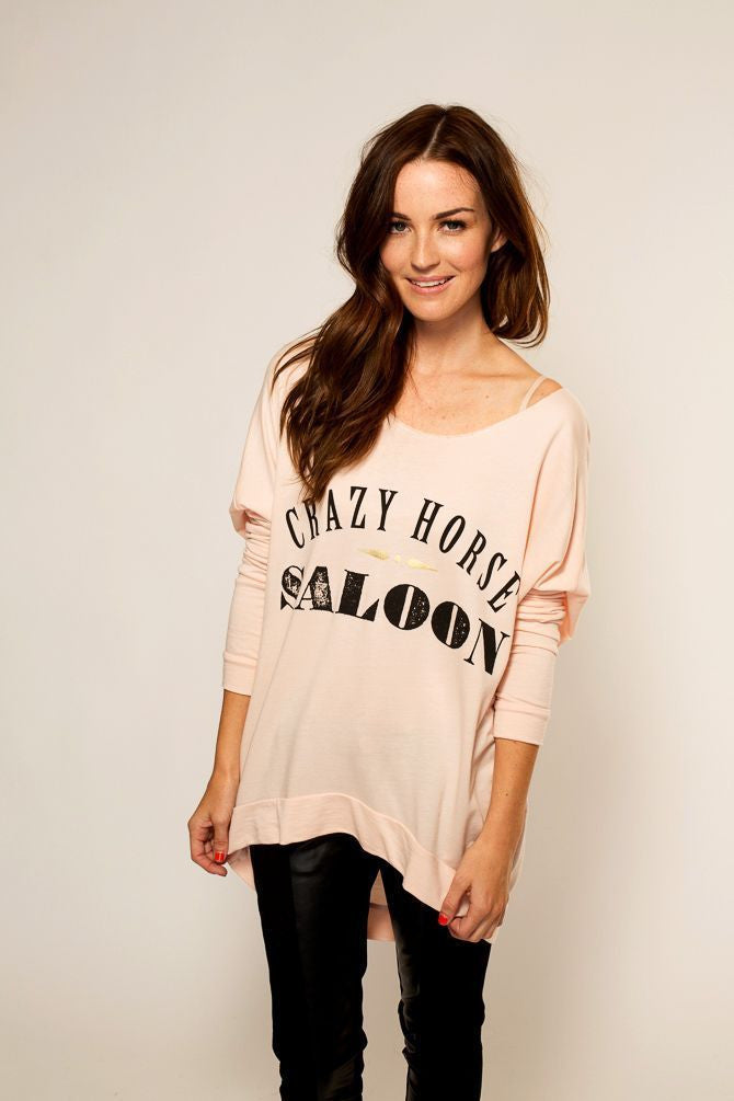 Crazy Horse Raw Edge Sweater