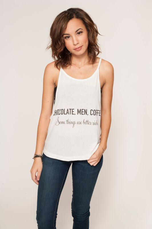 'Chocolate, Men, Coffee' Sunday Cami