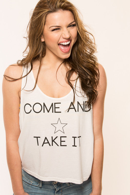 Come & Take It Crop Top