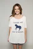 I Ride My Horse to School Tunic