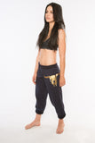 Gold Longhorn Sweat Pant