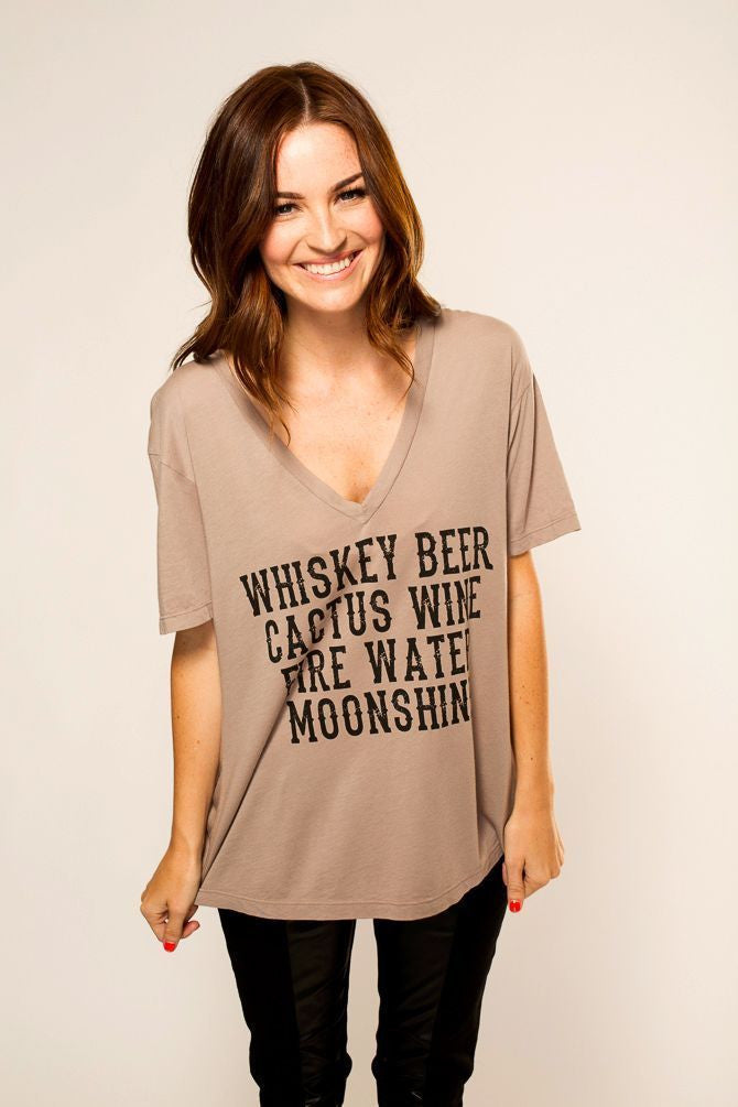 Whiskey, Beer V-Neck