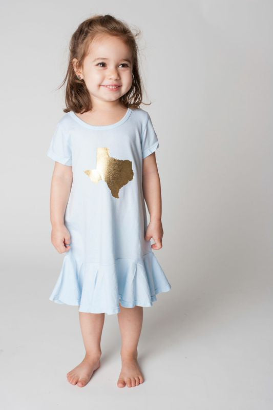 Gold Texas Girls Dress