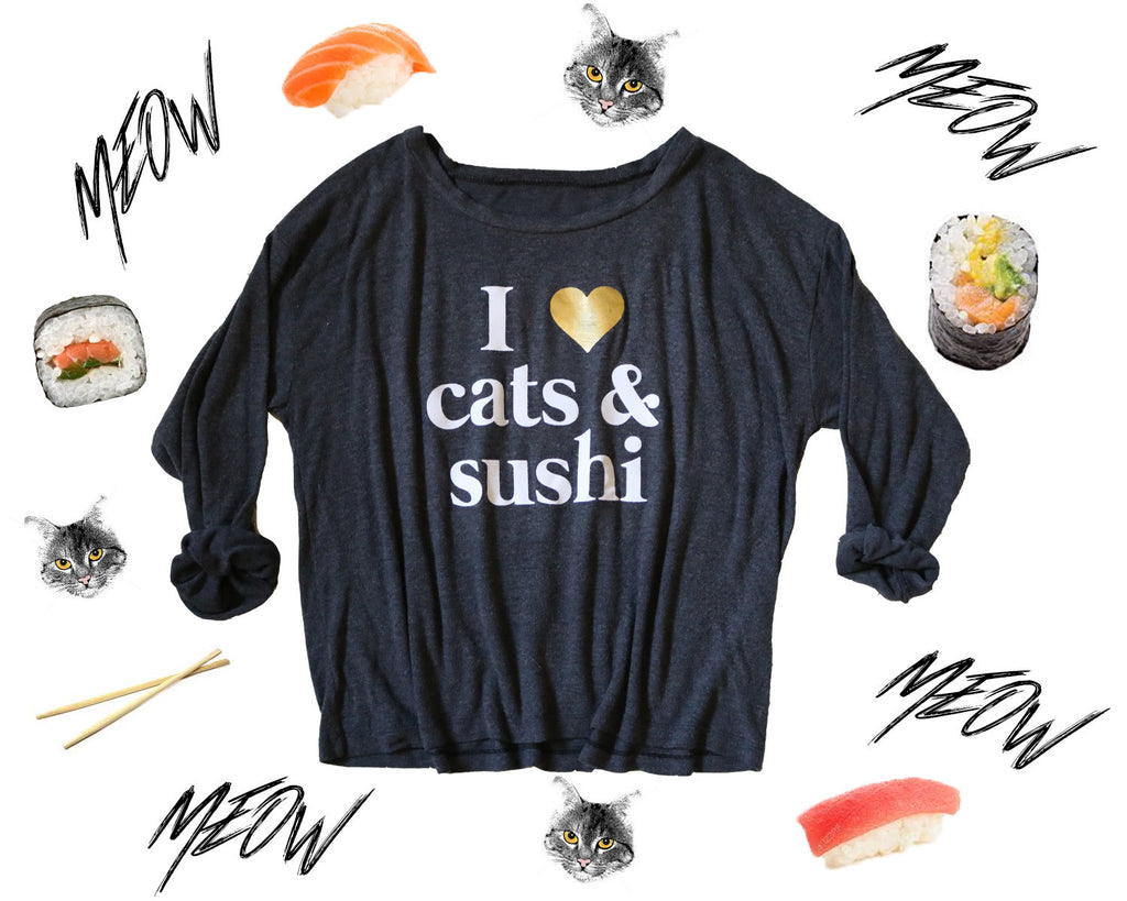 'I Love Cats & Sushi' Belle Sweater