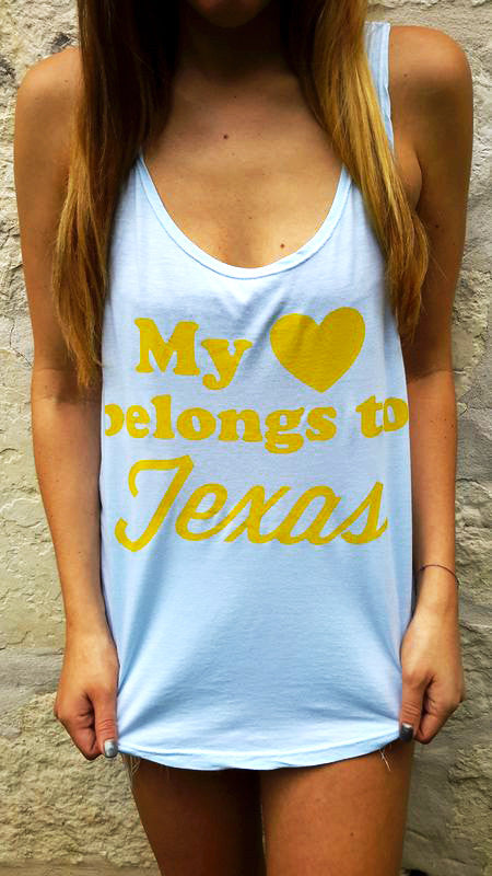 My Heart Belongs to Texas Racerback