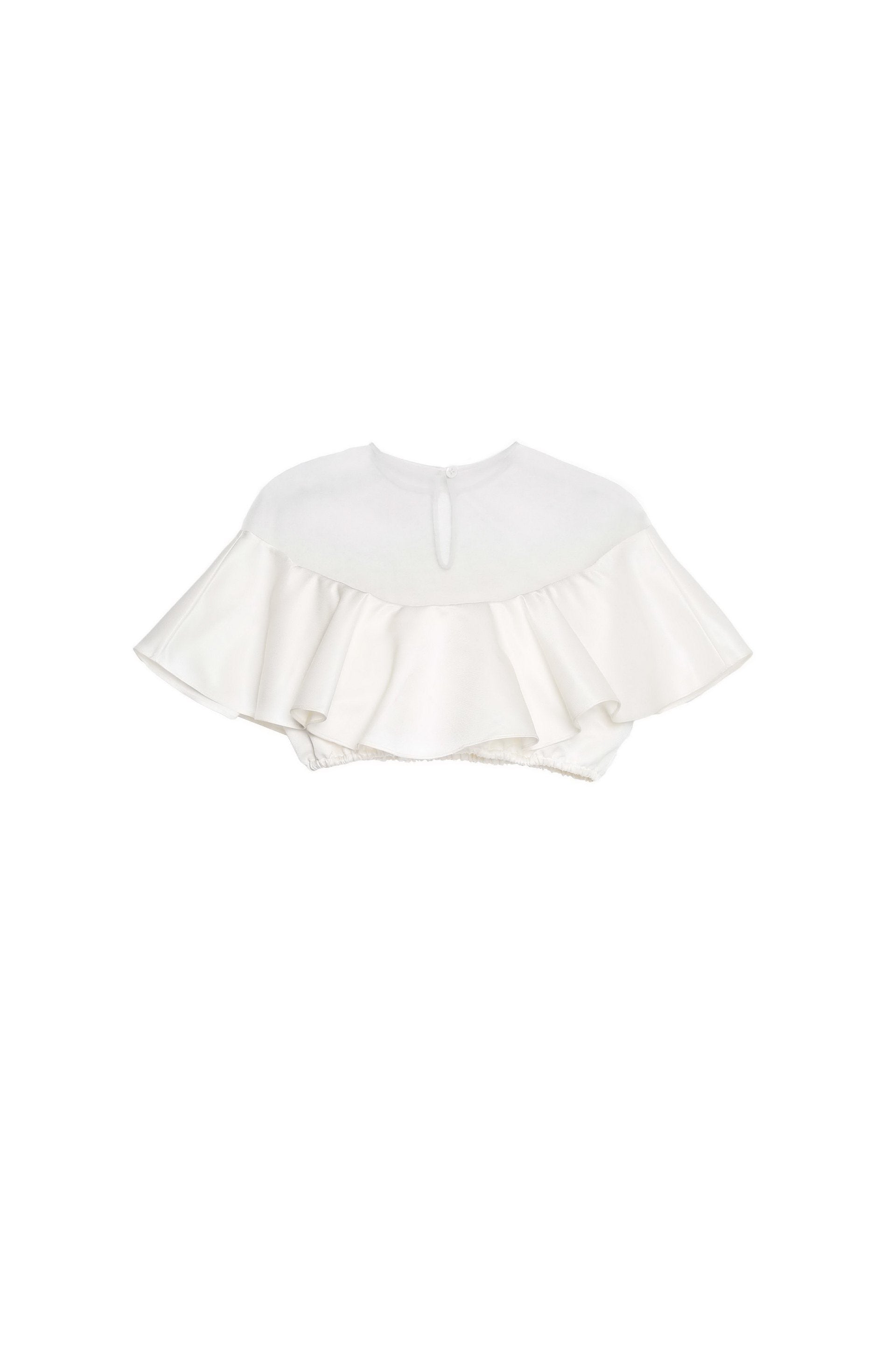 Angel Ruffled Crop Top