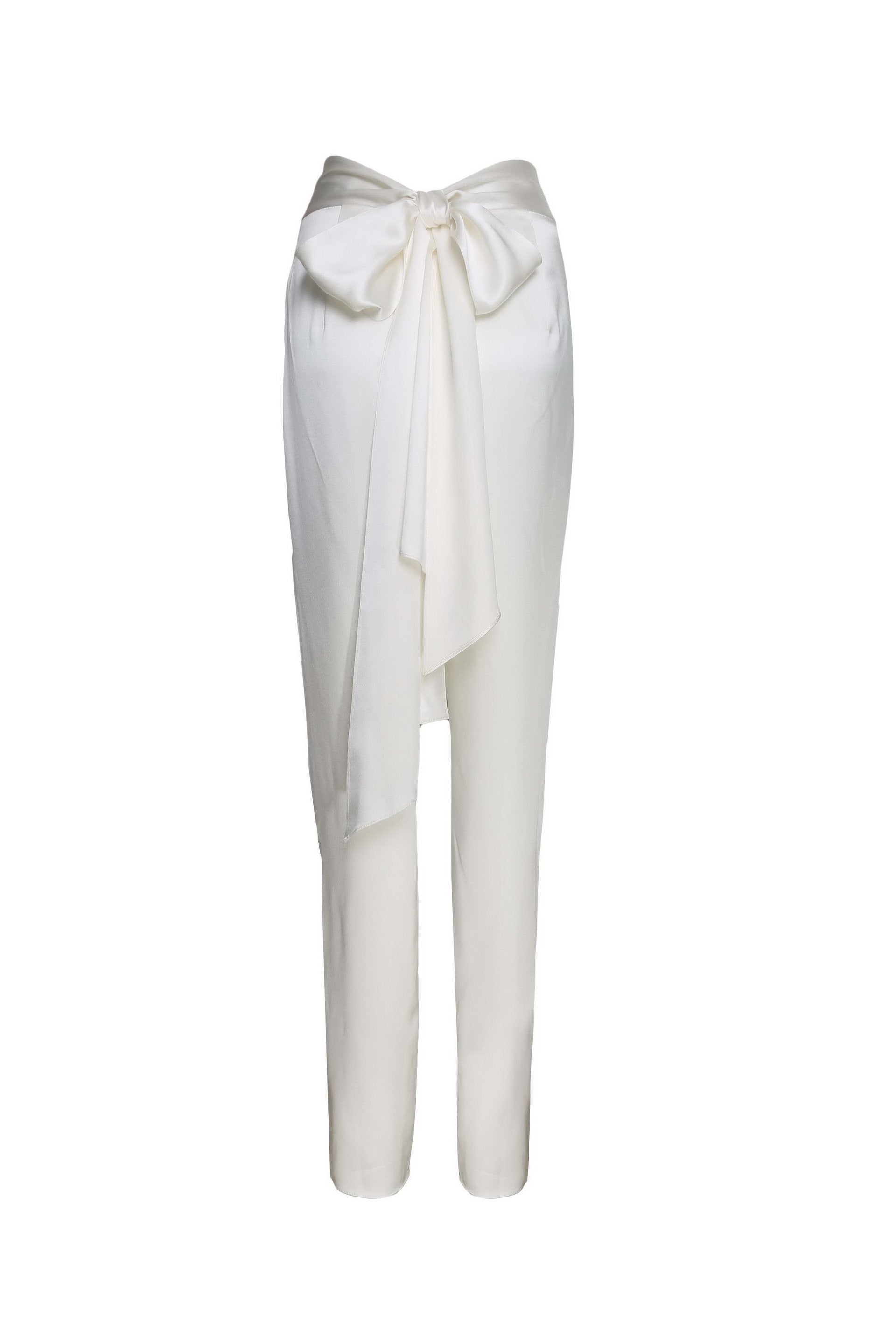 High Waist Silk Trousers