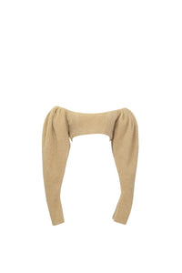 Mutton leg sleeve crop top