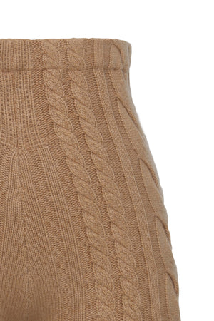 High Waist Cable Knit Short