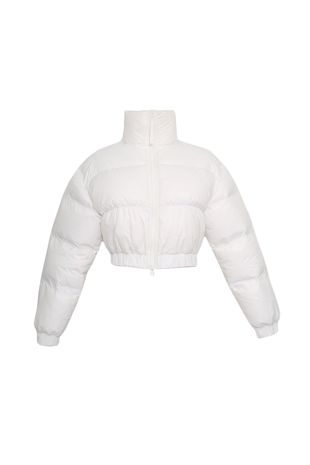 Cropped quilted shell down jacket
