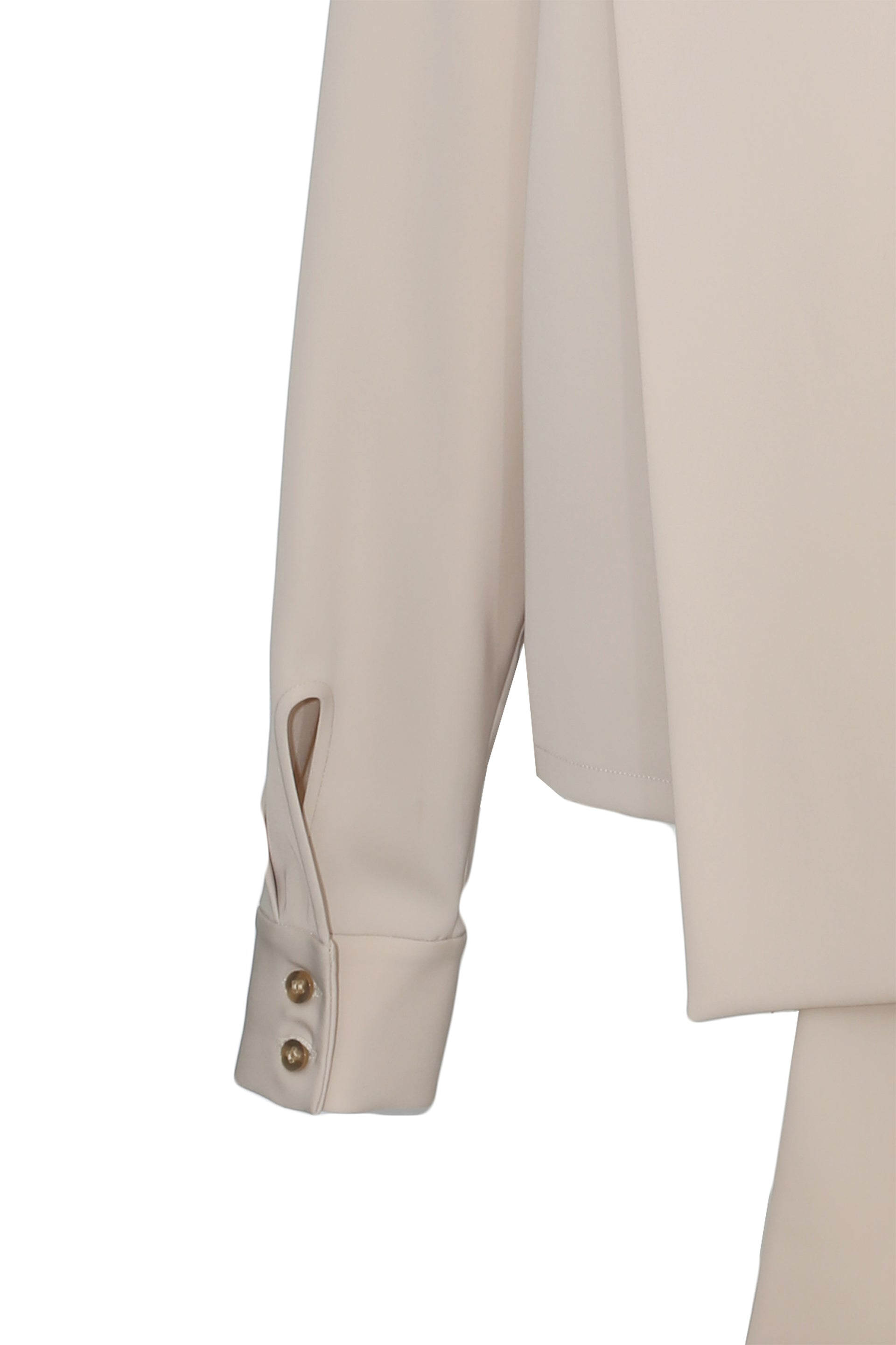 Scarf-detail pleated crepe blouse