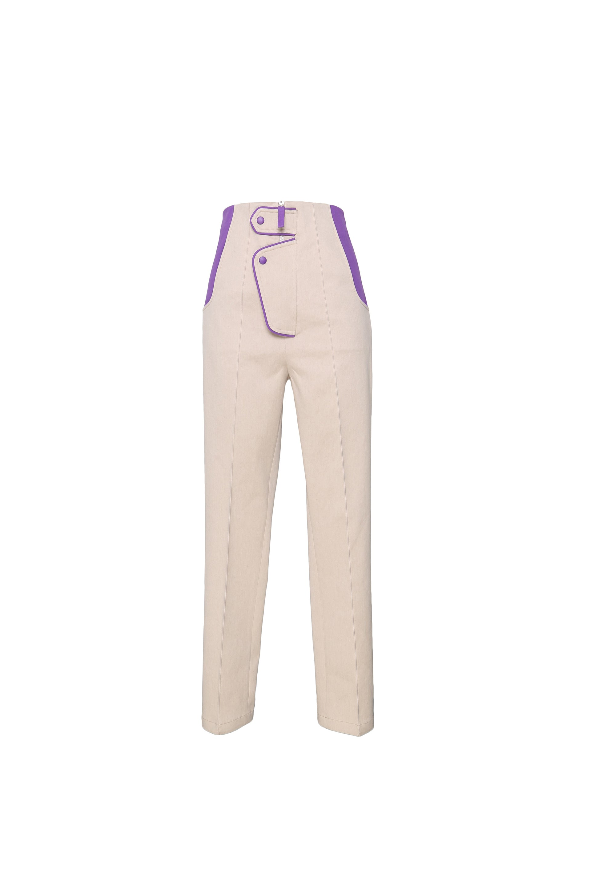 High  Waist Straight Leg Trouser