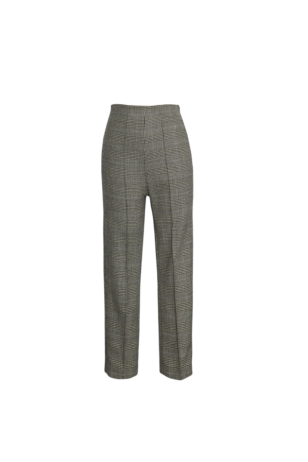 Prince of Wales checked wool-blend pants