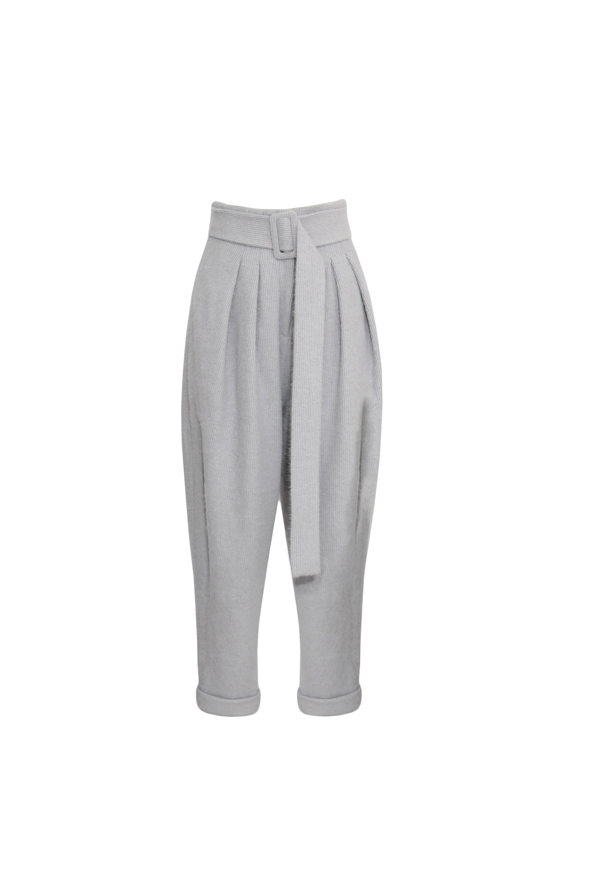 Cashmere-blend tapered pants