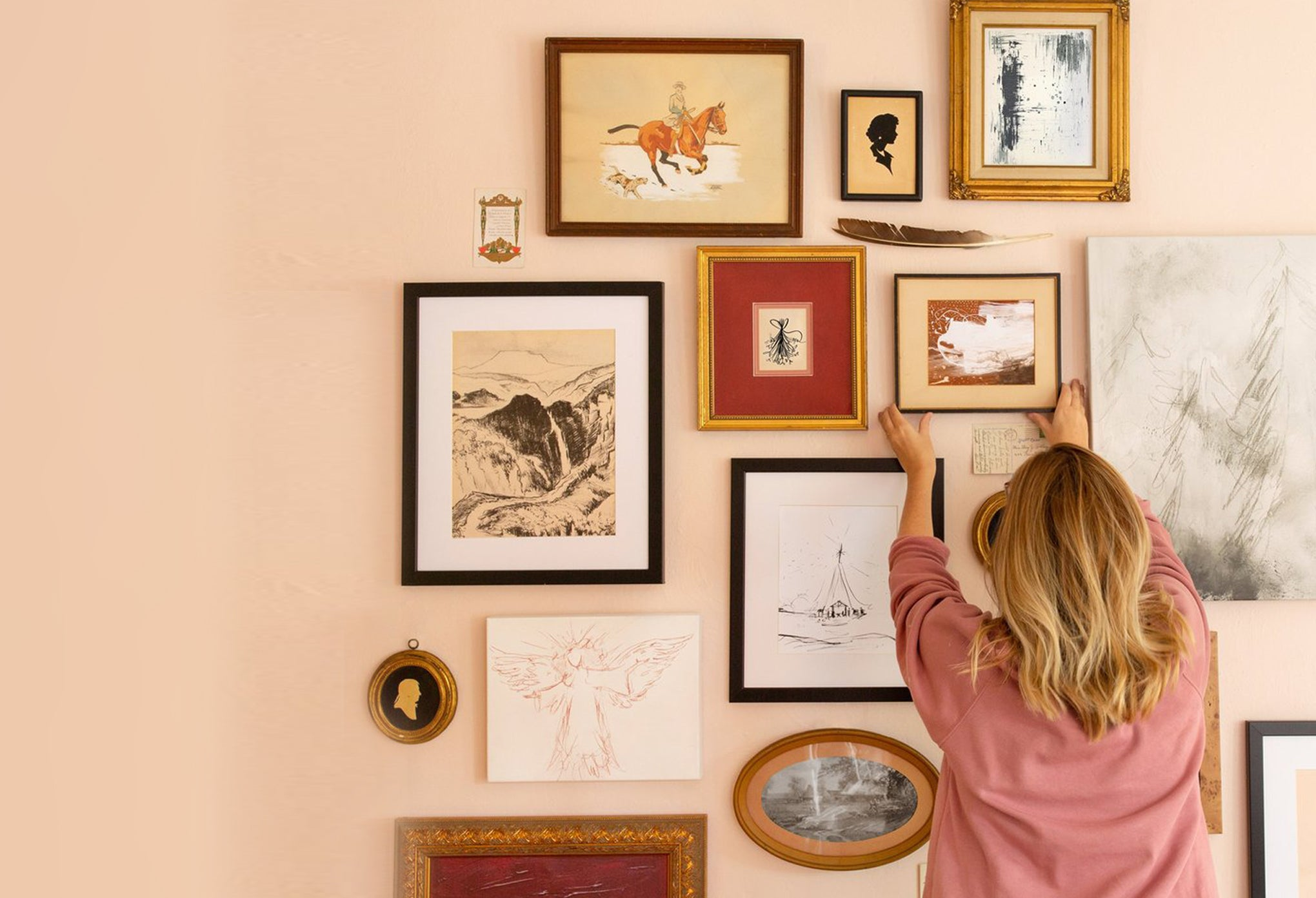 Laura's Cozy Library Gallery Wall
