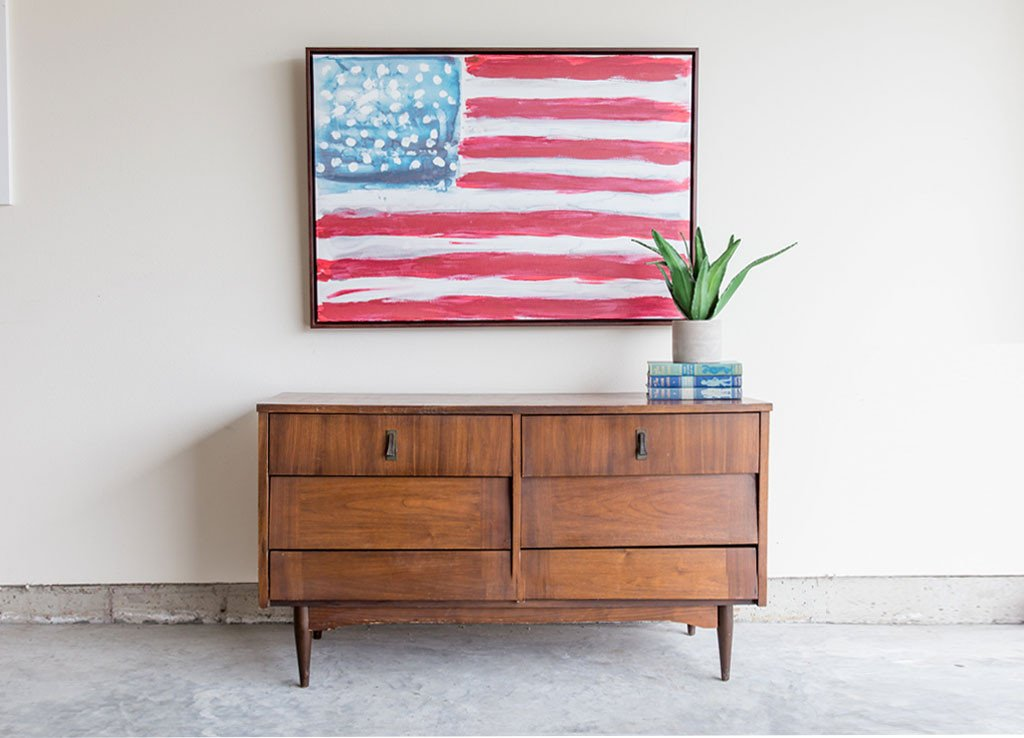 Abstract American Flag Canvas