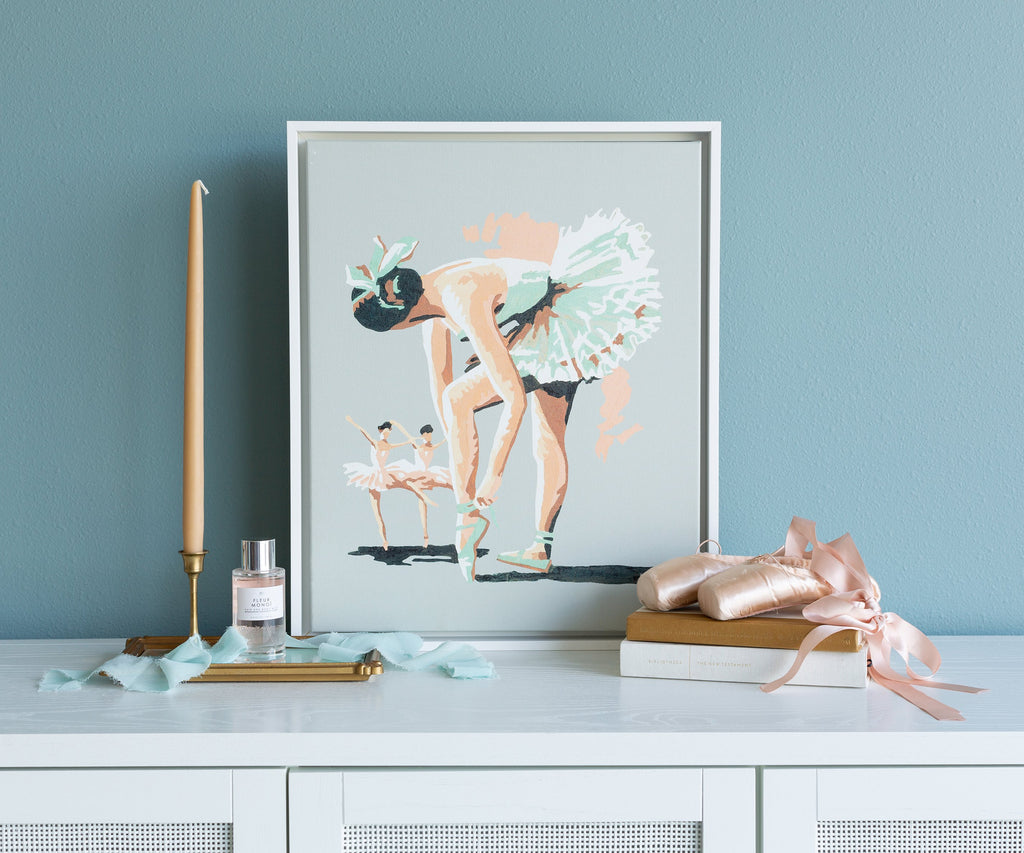 Minty Ballerina Paint By Number