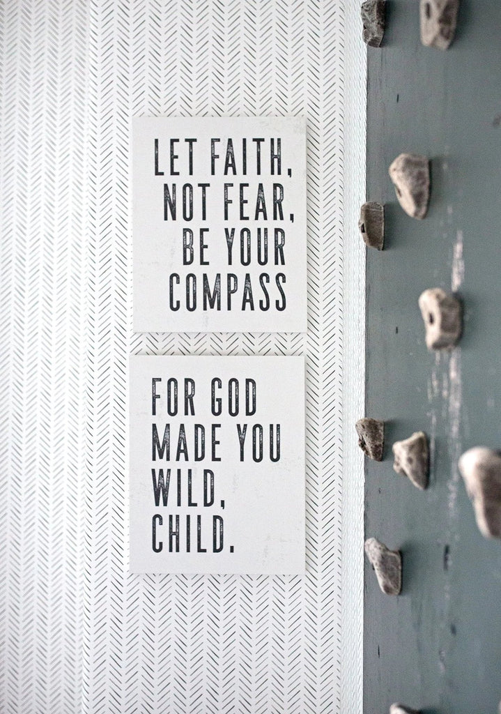 Let Faith Be Your Compass Diptych