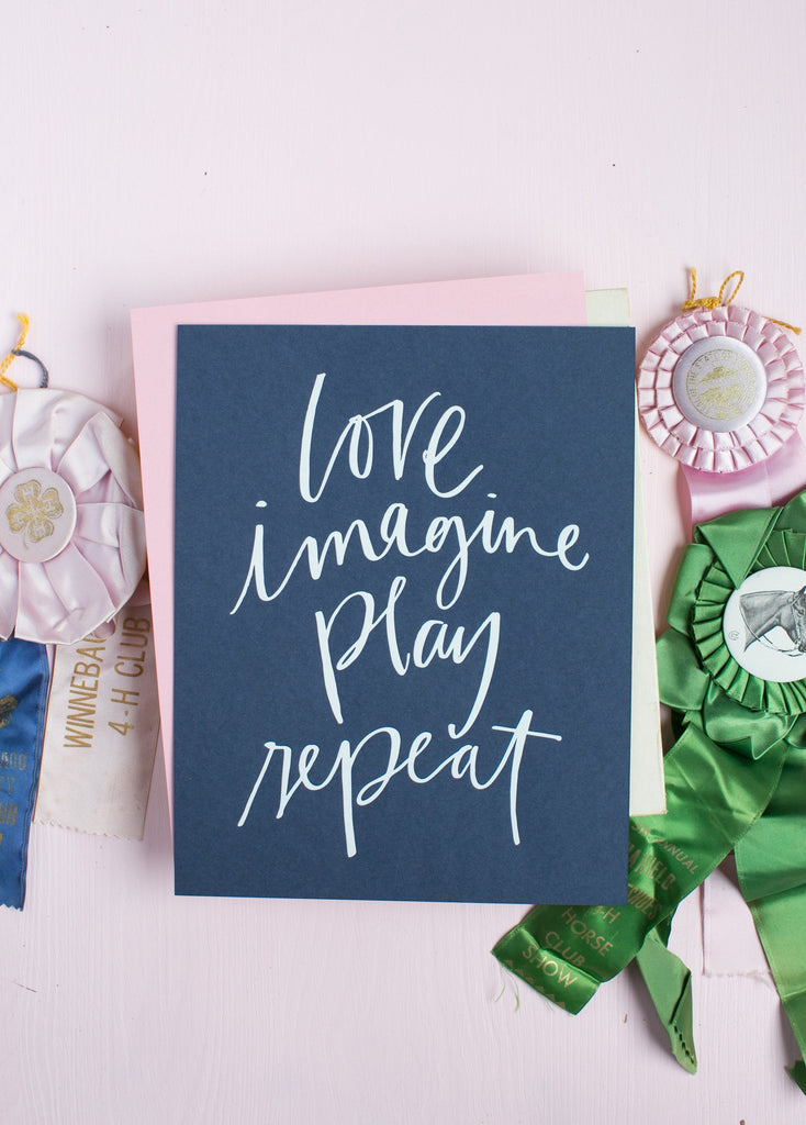 *No. 69, Love, Imagine, Play Print