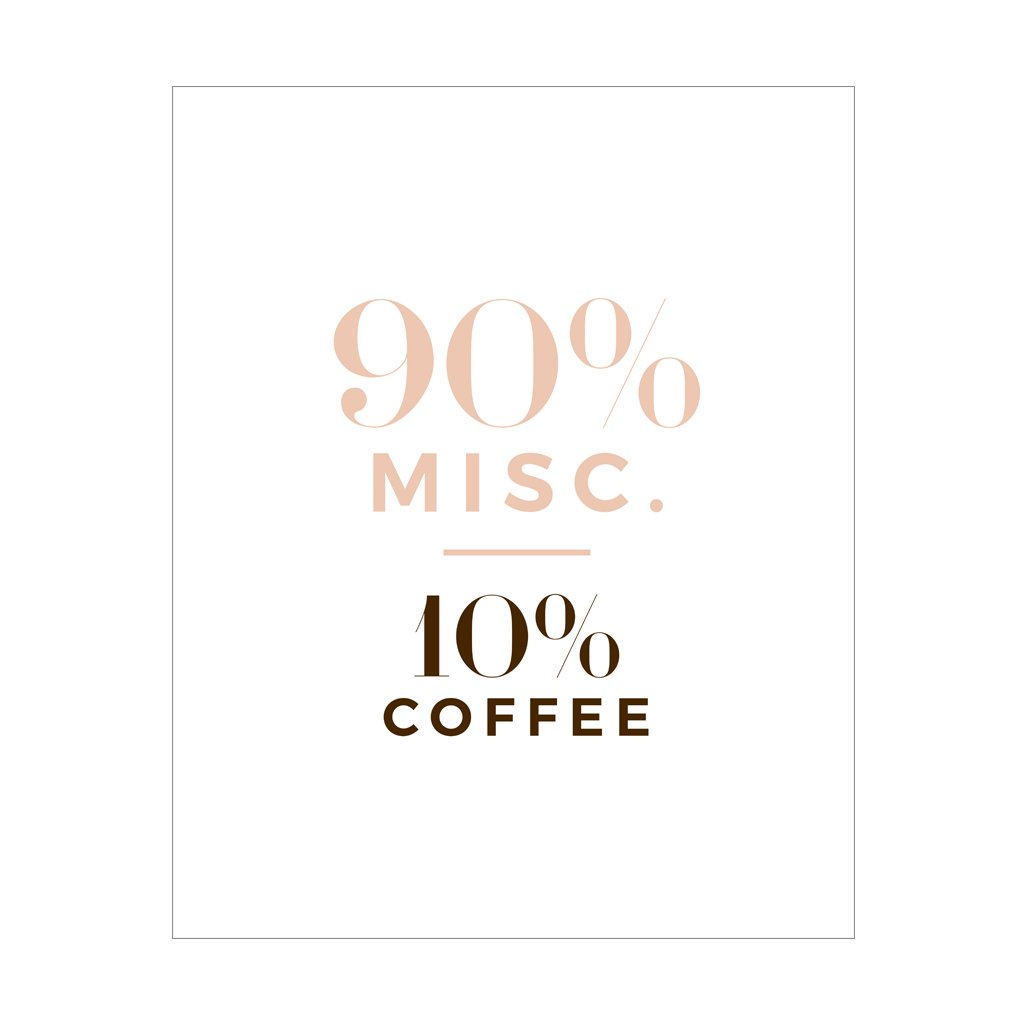 Coffee + Misc, Gift Canvas